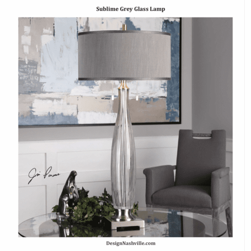 Sublime Smoke Grey Lamp