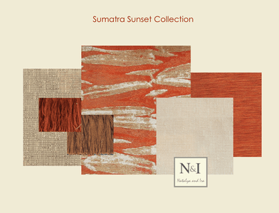Sumatra Sunset Bedding and Drapery Collection
