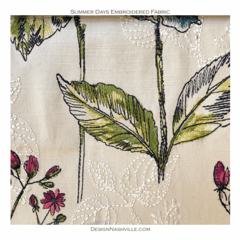 Summer Days Embroidered Fabric