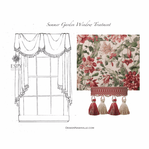 Summer Garden Window Treatment