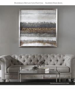 Summer Rain Sofa and Riverbank Reflections Painting