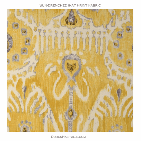 Sun-drenched Ikat Print Fabric
