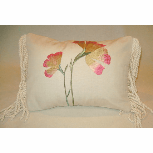 Sunny Calla Lily Embroidered Pillow