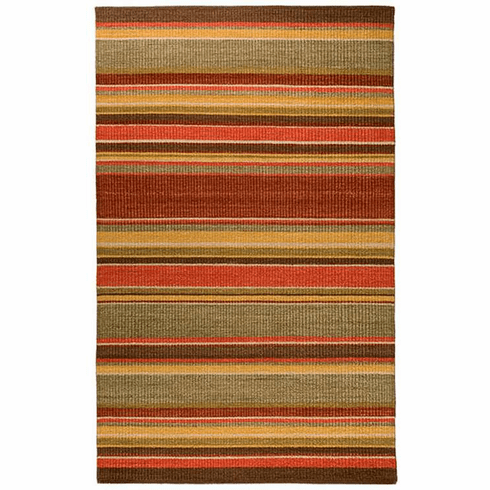 Sunset Stripe Wool Rug