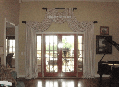 Swags over French doors
