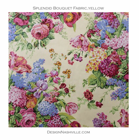 SWATCH Bountiful Bouquets Fabric, yellow