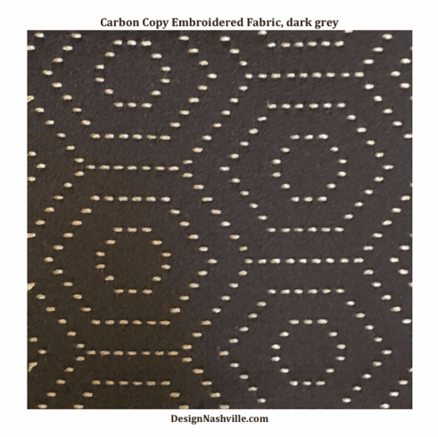 SWATCH Carbon Copy Embroidered <br>Fabric