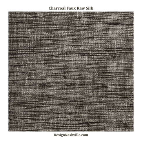 SWATCH Charcoal Faux Raw Silk Fabric