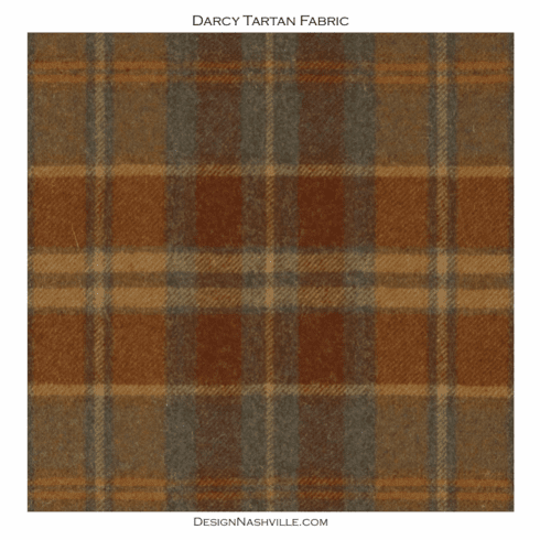 SWATCH Darcy Tartan Fabric, autumn