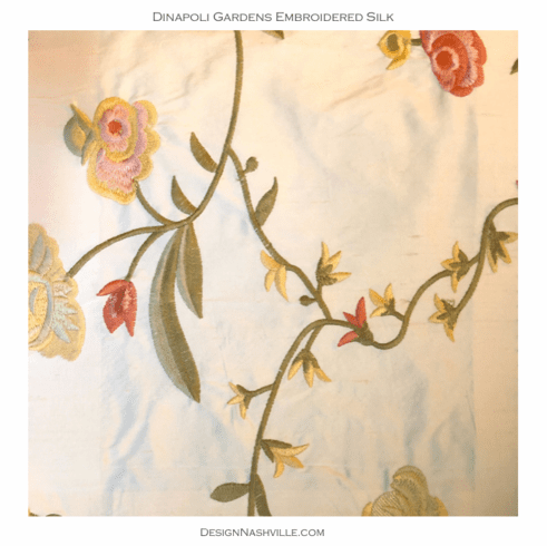 SWATCH Dinapoli Gardens Embroidered Fabric