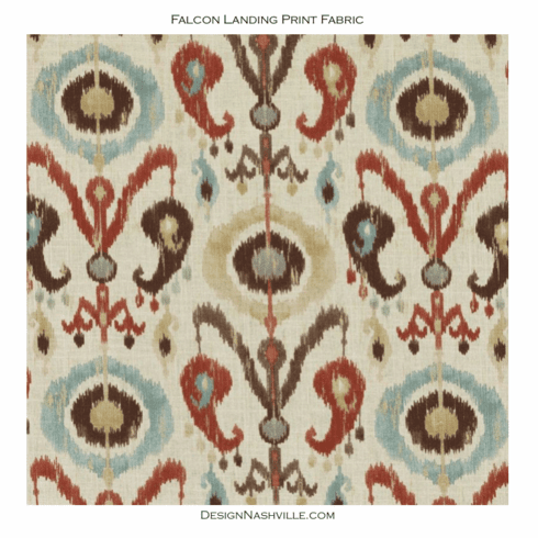 SWATCH Falcon Landing Print Fabric