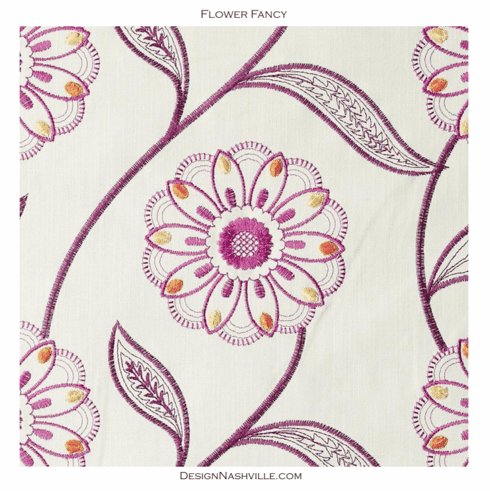 SWATCH Flower Fancy embroidered fabric