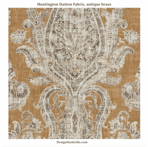 SWATCH Huntington Station Fabric, antique brass