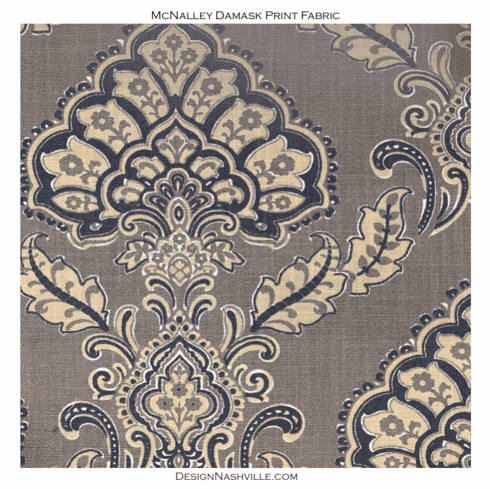 Swatch McNalley Damask Print Fabric