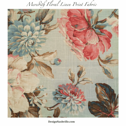 SWATCH Meredith Floral Linen Print Fabric