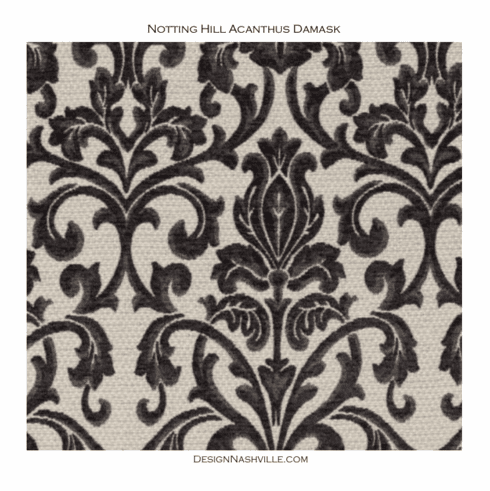 SWATCH Notting Hill Acanthus Leaf Damask Fabric