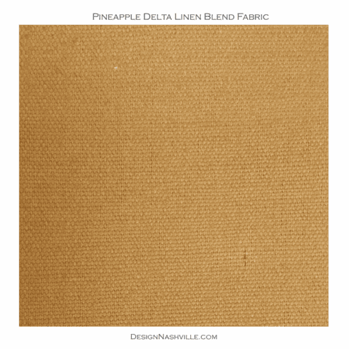 SWATCH Pineapple Delta Linen Blend Fabric