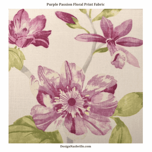 SWATCH Purple Passion Floral Fabric