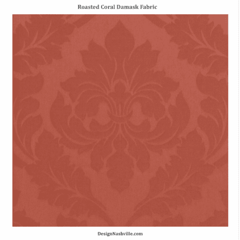 SWATCH Roasted Coral Damask Fabric