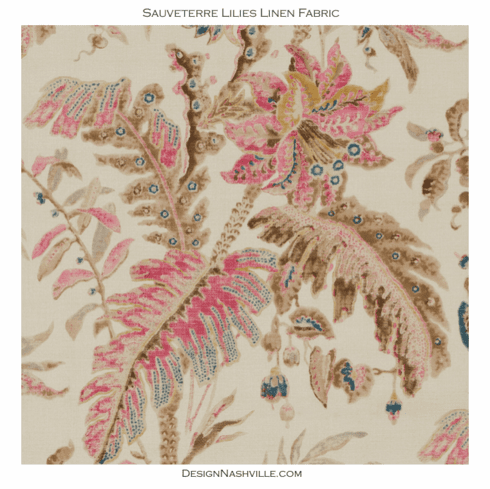 SWATCH Sauvetere Lilies Fabric