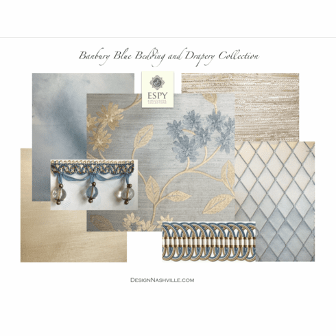 SWATCH Set Banbury Blue Bedding <br>and Drapery Collection