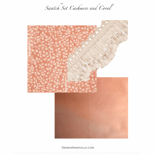 SWATCH Set Cashmere and Coral Draperies
