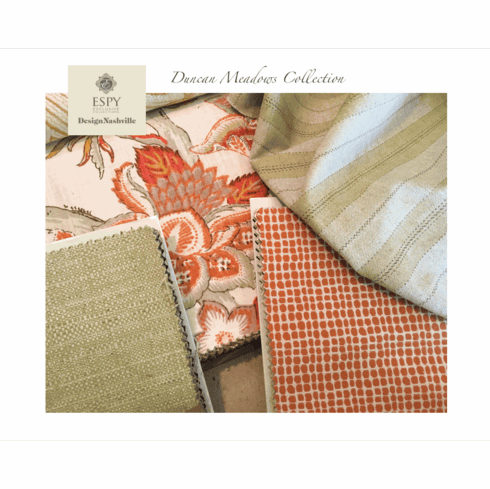 SWATCH Set Duncan Meadows<br> Bedding and Drapery Collection