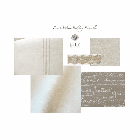Swatch Set French White Drapery and Bedding Collection