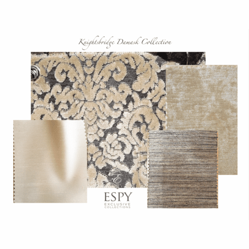 SWATCH SET Knightsbridge Damask Bedding and Drapery Collection