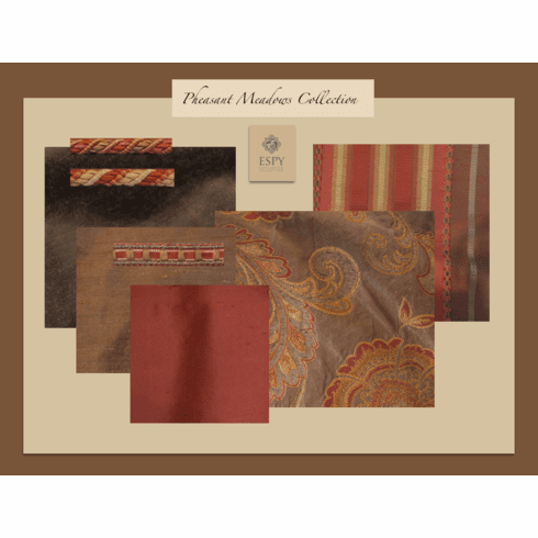 Swatch Set Pheasant Meadows Bedding and Drapery Collection