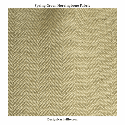 SWATCH Spring Green Herringbone Fabric