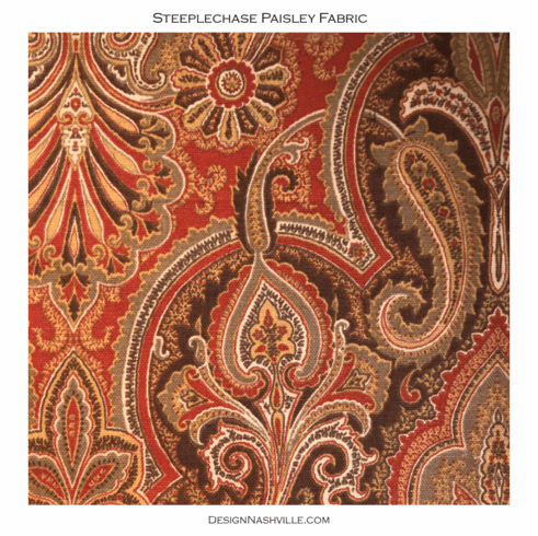 SWATCH Steeplechase Paisley Print Fabric