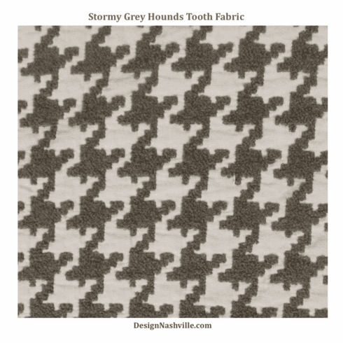 SWATCH Stormy Grey Houndstooth Fabric