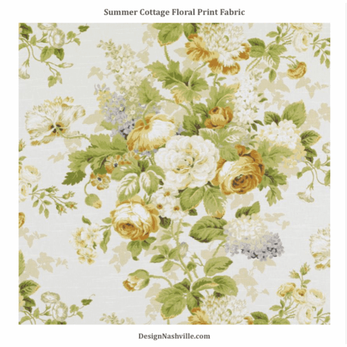SWATCH Summer Cottage Floral Fabric, green