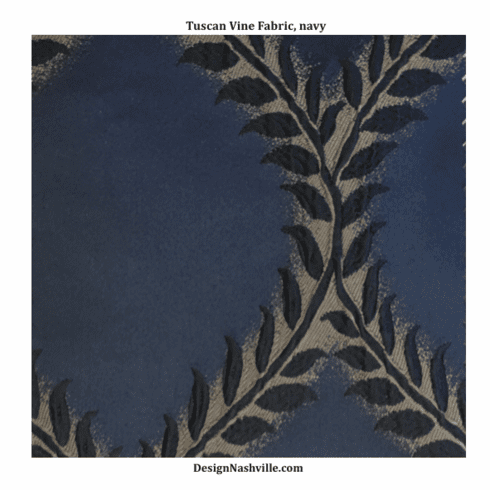 SWATCH Tuscan Vine Fabric, navy