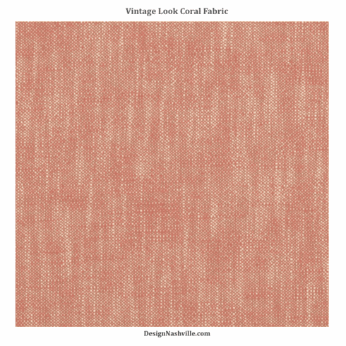 SWATCH Vintage Look Coral Fabric