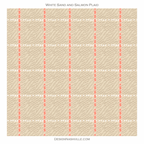 SWATCH White Sands and Salmon <br>Fabric