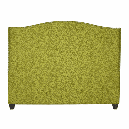 Sweeping Curve Custom Headboard <br>and Bed T-K customer's own fabric