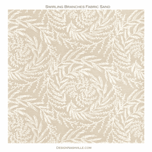 Swirling Branches Fabric sand