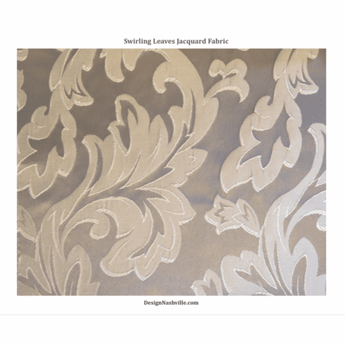 Swirling Leaves  Fabric, pewter