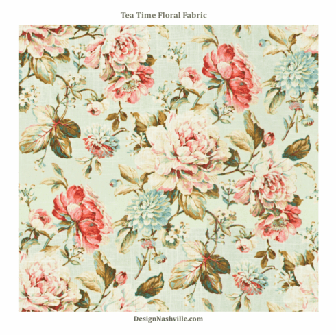 Tea Time Floral Fabric