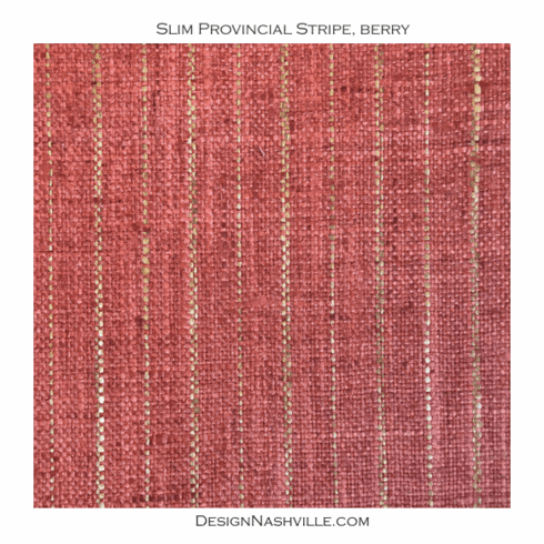 Thin Provincial Stripe Fabric, berry