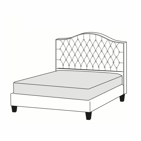 Timeless Tufted Headboard or Bed  <br>size T-K