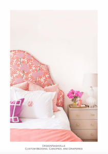 Transitional Orange and Pink Bedding
