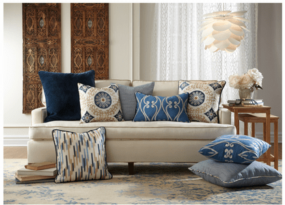 Trending: Rich blue, geometrics, and international design