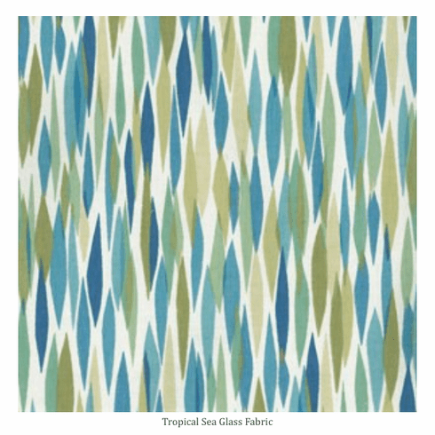 Tropical Sea Glass Fabric