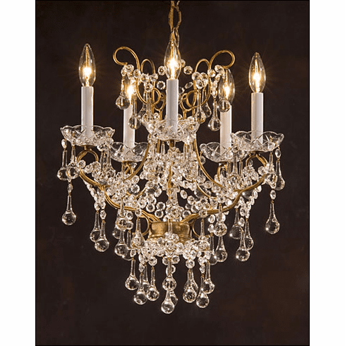 Tulane Crystal Chandelier, 5 light
