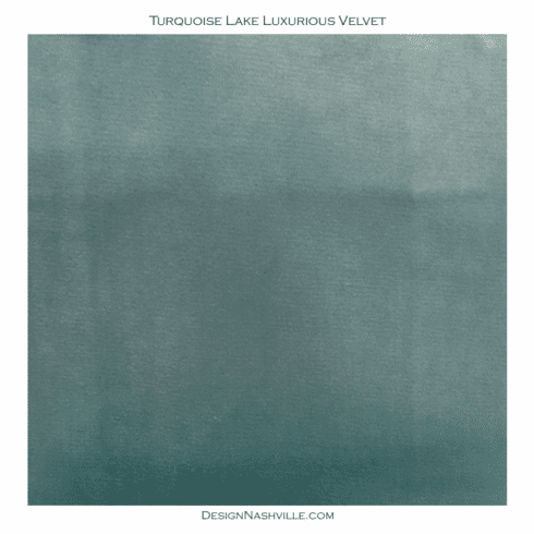 Turquoise Lake Luxurious Velvet <br>SWATCH