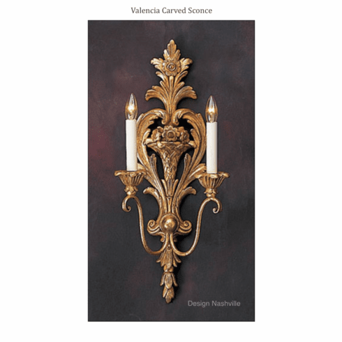Valencia Carved Lighting Sconce