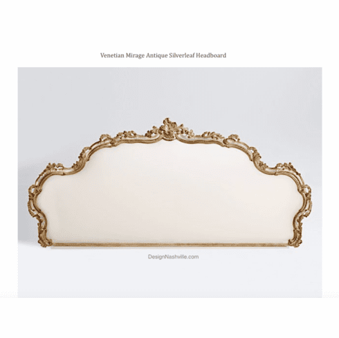 Venetian Mirage Antique Silverleaf Headboard